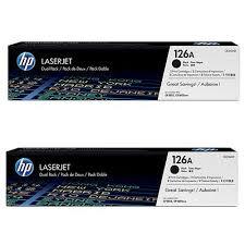 HP 126A Black 2-PACK Original Toner HP LaserJet Color Pro CP 1025 | InkNu