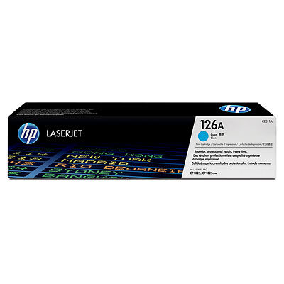 HP 126A Cyan Original Toner HP LaserJet Color Pro CP 1025 | InkNu