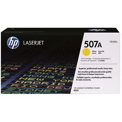 HP 507A Yellow Original Toner HP LaserJet Enterprise 500 M 551 | InkNu