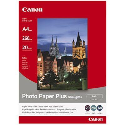 A4 SG-201 Photo Plus Semi-Gloss 260G (20 Sider) Foto Papir | InkNu