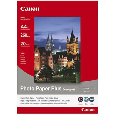 A3 SG-201 Photo Plus Semi-Gloss 260G (20 Sider) Foto Papir | InkNu