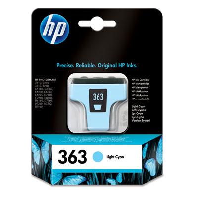 InkNu HP 363 LIGHT CYAN ORIGINAL BLÆKPATRON