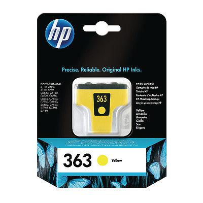 InkNu HP 363 YELLOW ORIGINAL BLÆKPATRON