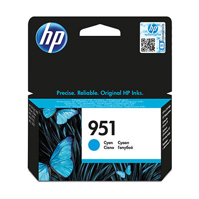 HP 951 Cyan Original Blækpatron HP OfficeJet Pro 8615 | InkNu