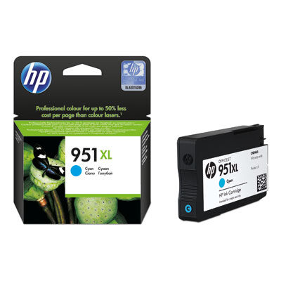 HP 951XL Cyan Original Blækpatron HP OfficeJet Pro 251 | InkNu