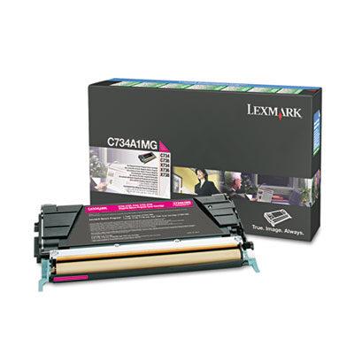 Lexmark C734A1MG Magenta Original Toner Lexmark Optra C 734   InkNu