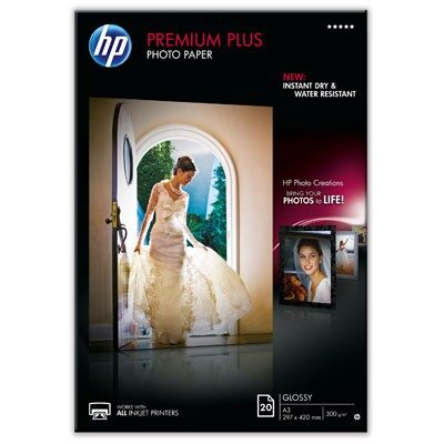 A3 Premium Plus Glossy Photo 300G (20 Sider) (UDGÅET) Foto Papir | InkNu