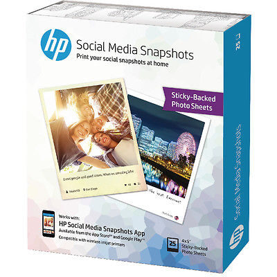 HP Social Media Snapshots 25 Sheets 10X13CM Foto Papir | InkNu