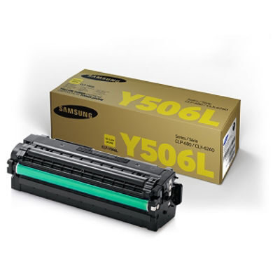 Samsung Y506S Yellow High Capacity Original Toner Samsung CLP 680   InkNu