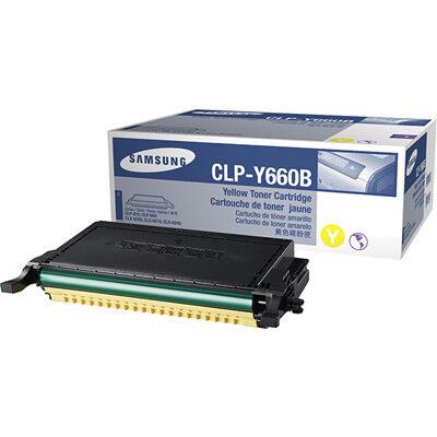 Samsung Y660B Yellow High Capacity Original Toner (UDGÅET) Samsung CLP 607 | InkNu