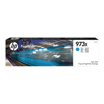 HP 973X Cyan Original Blækpatron HP PageWide Managed Color P 57750 DW | InkNu