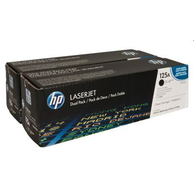 HP 125A Black Dual-Pack Original Tonerpatron HP Color LaserJet CM 1300 | InkNu