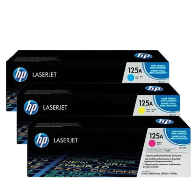 HP 125A C/Y/M Tri-pack Original HP Color LaserJet CM 1300 | InkNu