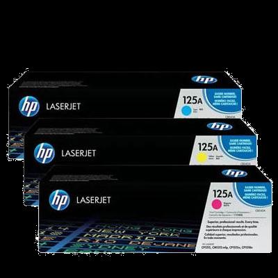 HP 125A C/Y/M Tri-pack Original HP Color LaserJet CM 1300 | InkNu