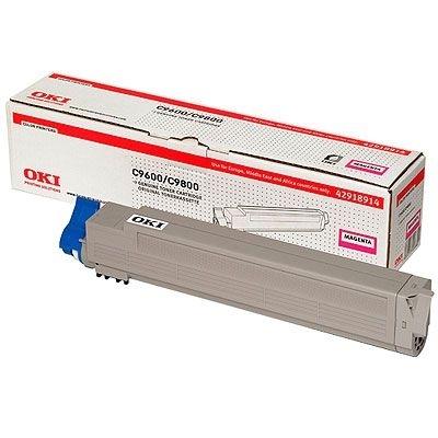 OKI 42918914 Magenta Original Toner 15.000 Sider OKI C 9600   InkNu