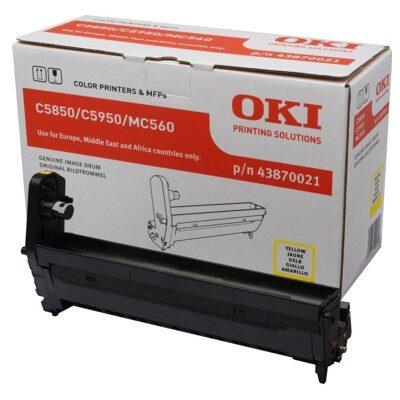 OKI 43870021 Yellow DRUM-UNIT Original 20.000 Sider OKI C 5850 | InkNu