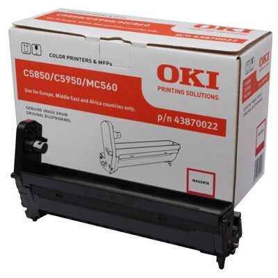 OKI 43870022 Magenta DRUM-UNIT Original 20.000 Sider OKI C 5850 | InkNu
