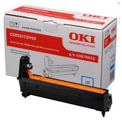 OKI 43870023 Cyan DRUM-UNIT Original 20.000 Sider OKI C 5850 | InkNu