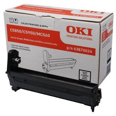 OKI 43870024 Black DRUM-UNIT Original 20.000 Sider OKI C 5850 | InkNu
