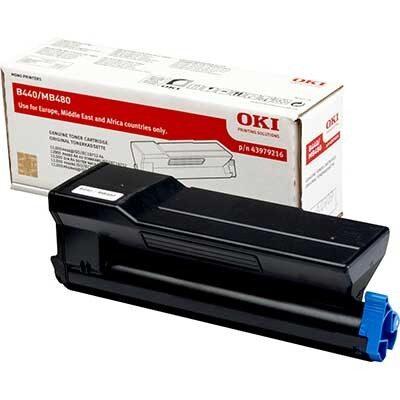 OKI 43979216 Black Original Toner 12.000 Sider OKI B 440 | InkNu