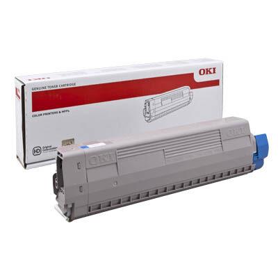 OKI 44844507 Cyan Original Toner 10.000 Sider OKI C 831 | InkNu