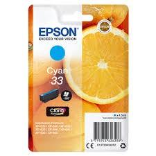 Epson 33 Cyan Standard Original Blækpatron Epson Expression Premium XP 530 | InkNu