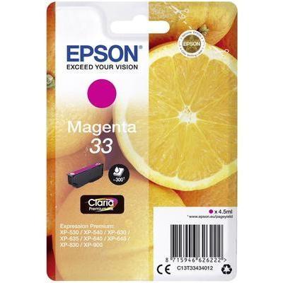 Epson 33 Magenta Standard Original Blækpatron Epson Expression Premium XP 530 | InkNu