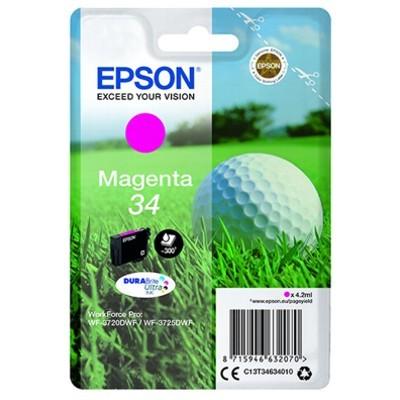 Epson 34 Magenta Standard Original Blækpatron Epson Workforce Pro 3720 | InkNu