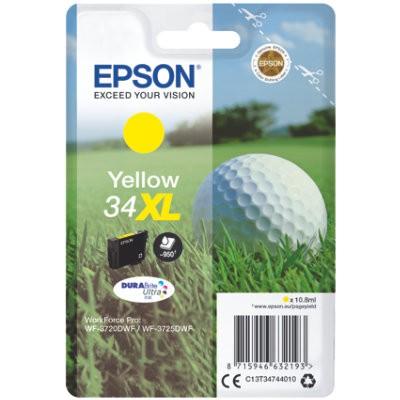 Epson 34XL Yellow Original Blækpatron Høj Kapacitet Epson Workforce Pro 3720 | InkNu