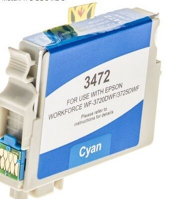Epson 34XL Cyan Kompatibel Blækpatron Epson Workforce Pro 3720 | InkNu