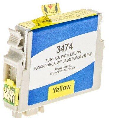 Epson 34XL Yellow Kompatibel Blækpatron Epson Workforce Pro 3720 | InkNu
