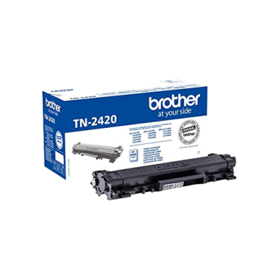 Brother TN-2420 Black Original Toner Høj Kapacitet Brother DCP-L 2510 | InkNu