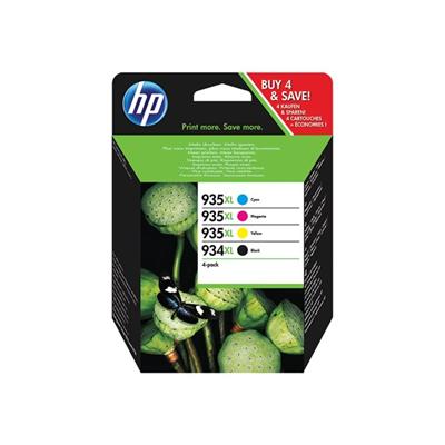 HP 934XL CMYK Valuepack Original (UDGÅET) HP OfficeJet 6800 | InkNu