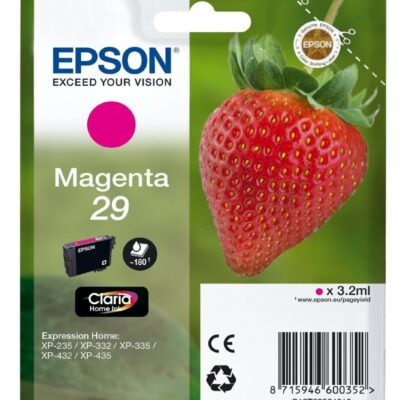 Epson 29 Standard Magenta Original Blækpatron Epson Expression Home XP 255 | InkNu