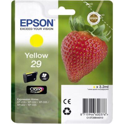 Epson 29 Standard Yellow Original Blækpatron Epson Expression Home XP 235 | InkNu