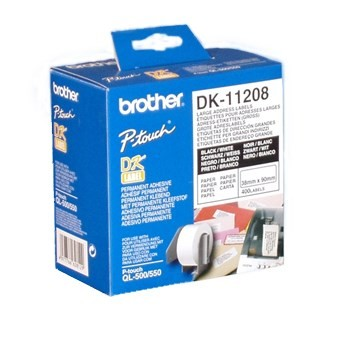 InkNu Brother DK11208 Large White Paper Adress Labels Original