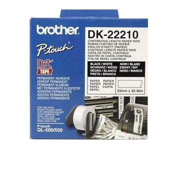 InkNu Brother DK22210 Endless Etiket Original
