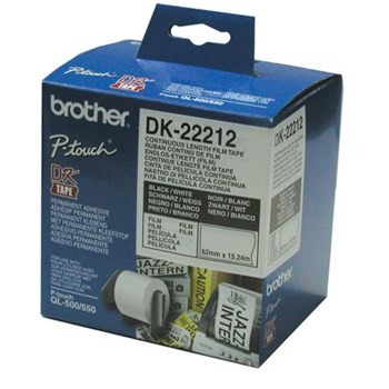 Brother DK22212 Endless Etiket Original 62mm x 15,24m Brother Labels | InkNu
