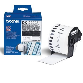 Brother DK22223 Continuous Length White Paper Tape Original Brother Labels | InkNu
