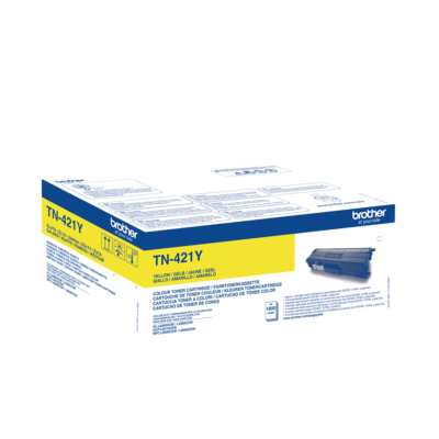 Brother TN421Y Yellow Original Toner 1.800 Sider Brother DCP-L 8410 | InkNu