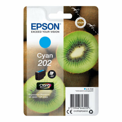 Epson T202 Cyan Original Blækpatron Standard Epson Expression Premium XP 6000 | InkNu