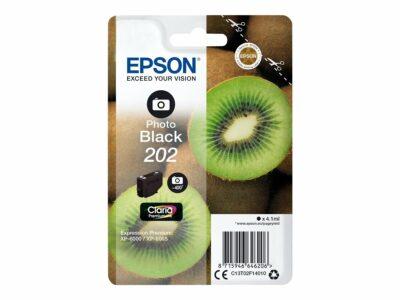 Epson T202 Photo Black Original Blækpatron Standard Epson Expression Premium XP 6000   InkNu