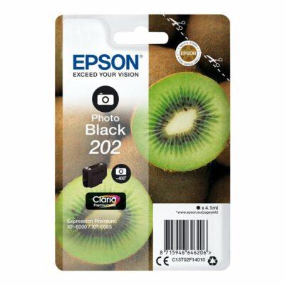 Epson T202 Photo Black Original Blækpatron Standard Epson Expression Premium XP 6000 | InkNu