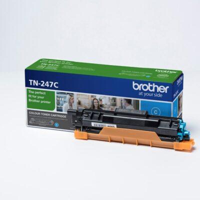 Brother TN247 Cyan Original Toner 2.300 Sider Brother DCP-L 3510 | InkNu