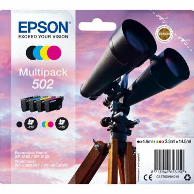 Epson 502 Multipack 4-Farver Original Epson Expression Home XP 5100 | InkNu