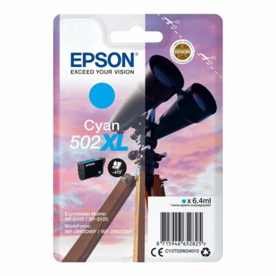 Epson 502XL Cyan Original Blækpatron Epson Expression Home XP 5100 | InkNu