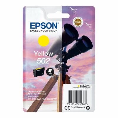 Epson 502 Yellow Standard Original Blækpatron Epson Expression Home XP 5100 | InkNu