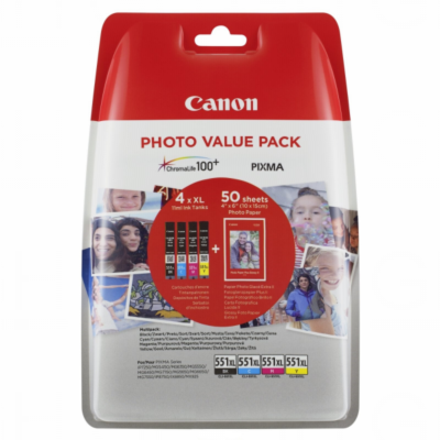 Canon CLI-551XL C/M/Y/BK + Photo Original Value Pack Canon PIXMA iP7250 | InkNu