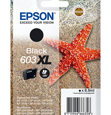 Epson Singlepack Black 603XL Ink Epson Expression Home XP-2100 | InkNu