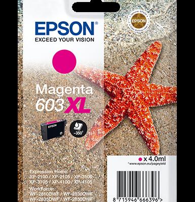 Epson Singlepack Magenta 603XL Ink Epson WorkForce WF-2810DWF | InkNu